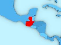 Guatemala en el mapa 3D Foto de archivo