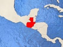 Guatemala en mapa Foto de archivo