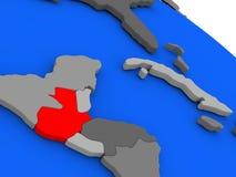 Guatemala en rojo Imágenes de archivo libres de regalías