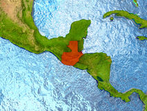 Guatemala en rojo Imagen de archivo libre de regalías
