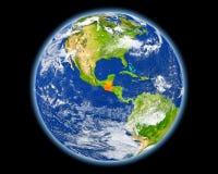 Guatemala en rojo del espacio Fotos de archivo