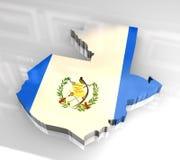 guatemala för flagga 3d översikt Arkivfoto