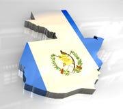 guatemala för flagga 3d översikt Royaltyfri Bild