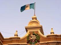 GUATEMALA AM 20. FEBRUAR 2019, Staatsflagge von Guatemala-Stadt, am 20. Februar 2019 Gatemala stockbild