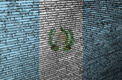 Guatemala flag is depicted on the screen with the program code. The concept of modern technology and site development.  vector illustration