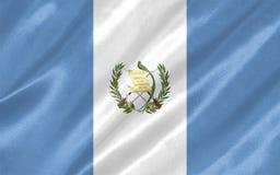 Guatemala Flag. With waving on satin texture vector illustration