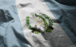 Guatemala Flag Rumpled Close Up.  royalty free stock images