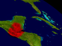 Guatemala från utrymme Arkivfoton