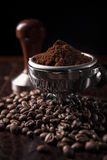 Guatemala ground coffee with coffee bean Stock Photo