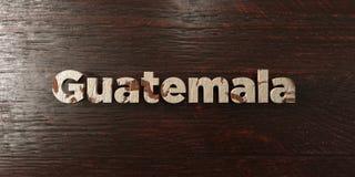 Guatemala - grungy trärubrik på lönn - 3D framförd fri materielbild för royalty Arkivfoto