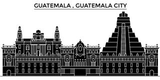 Guatemala , Guatemala City architecture vector city skyline, travel cityscape with landmarks, buildings, isolated sights vector illustration