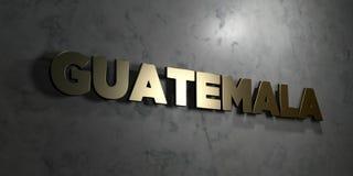 Guatemala - guld- text på svart bakgrund - 3D framförd fri materielbild för royalty Arkivbilder