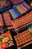 guatemala hand - vävde gjorda objekt Arkivfoton