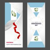 Guatemala Happy independence day Confetti Celebration Background. Vertical Banner set - This Vector EPS 10 illustration is best for print media, web design royalty free illustration