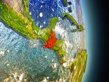 Guatemala i rött från utrymme Arkivbilder