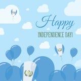 Guatemala Independence Day Flat Patriotic Design. Royalty Free Stock Photos