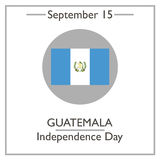 Guatemala Independence Day, September 15. Vector illustration for you design, card, banner, poster and calendar Royalty Free Stock Photo
