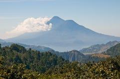 Guatemala landscape. Landscape with view over lake atitlan, guatemala, centroamerica Royalty Free Stock Photos