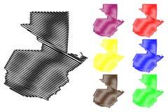 Guatemala map vector Stock Image