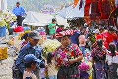 Guatemala Market. Chichicastenango, Guatemala, Central America, which hosts one of the largest and most hectic outdoor marketplaces in Guatemala Stock Images