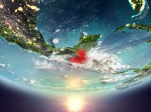 Guatemala mit Sonne Lizenzfreies Stockbild