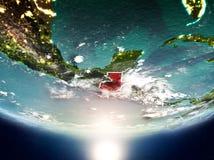 Guatemala mit Sonne auf Planet Erde Lizenzfreie Stockfotos