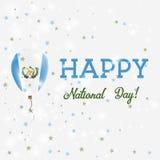 Guatemala National Day patriotic poster. Royalty Free Stock Photo