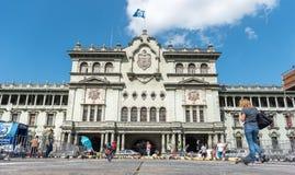 GUATEMALA - 21. NOVEMBER 2017: Nationaler Palast der Kultur in Guatemala-Stadt lizenzfreie stockbilder