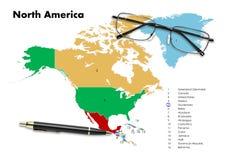 Guatemala op de kaart van Noord-Amerika Royalty-vrije Stock Foto