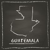 Guatemala outline vector map hand drawn with. Stock Image