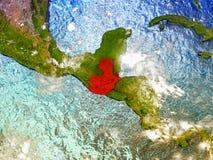 Guatemala på det illustrerade jordklotet Arkivfoto