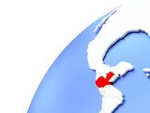 Guatemala på det moderna skinande jordklotet Royaltyfri Bild