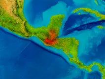 Guatemala på fysisk översikt Royaltyfria Bilder