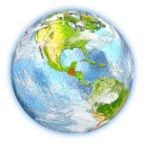 Guatemala på isolerad jord Fotografering för Bildbyråer