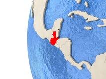 Guatemala på jordklotet 3D Arkivbilder