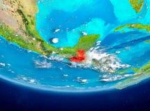 Guatemala på jordklotet från utrymme Royaltyfri Bild
