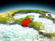 Guatemala på modell av jord Royaltyfria Foton