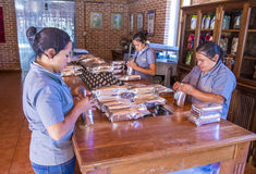 Guatemala packaging factory Royalty Free Stock Photo