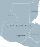 Guatemala political map Stock Images