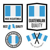 Guatemala quality label set for goods Stock Photography