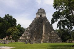 Guatemala - Tikal mayan pyramid Royalty Free Stock Photos