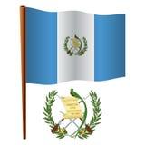 Guatemala wavy flag Stock Image