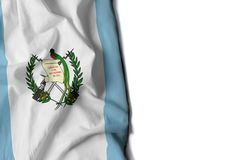 guatemala wrinkled flag, space for text Royalty Free Stock Photography