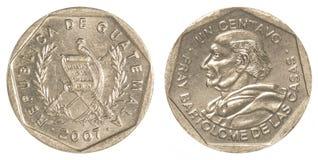 1 Guatemalaans centavosmuntstuk Stock Foto's
