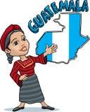 Guatemalaanse vrouw royalty-vrije illustratie