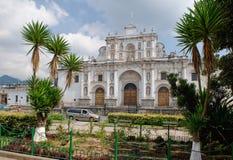 Guatemalan cathedral royalty free stock photo