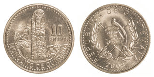 10 guatemalan centavos coin Stock Photos