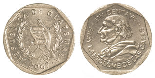1 guatemalan centavos coin Stock Photos