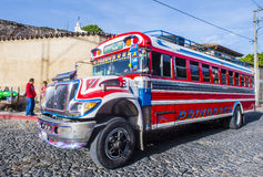 Guatemalan Chicken Bus Royalty Free Stock Photos