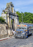 Guatemalan Chicken Bus Stock Images